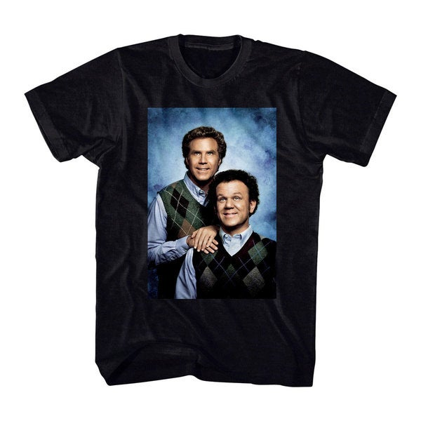 'Step Brothers' Portrait Black Cotton T-Shirt