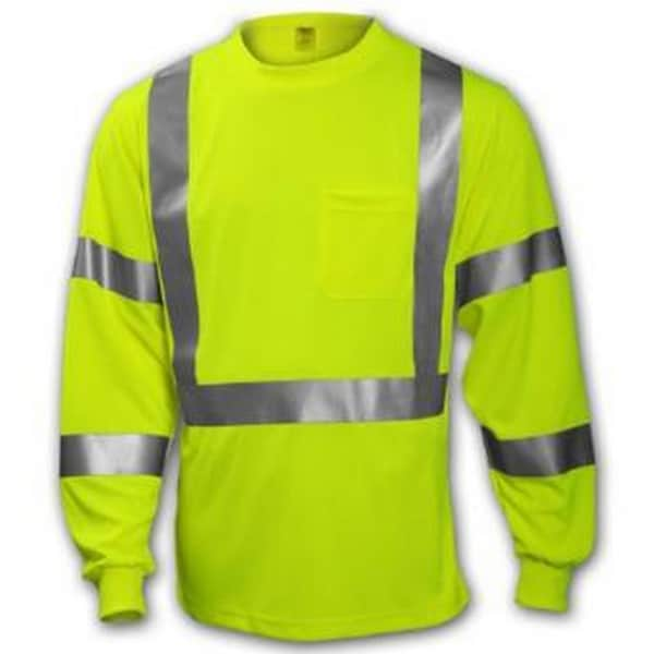 Class 3 High-visibility Fluorescent Yellow-Green T-shirt