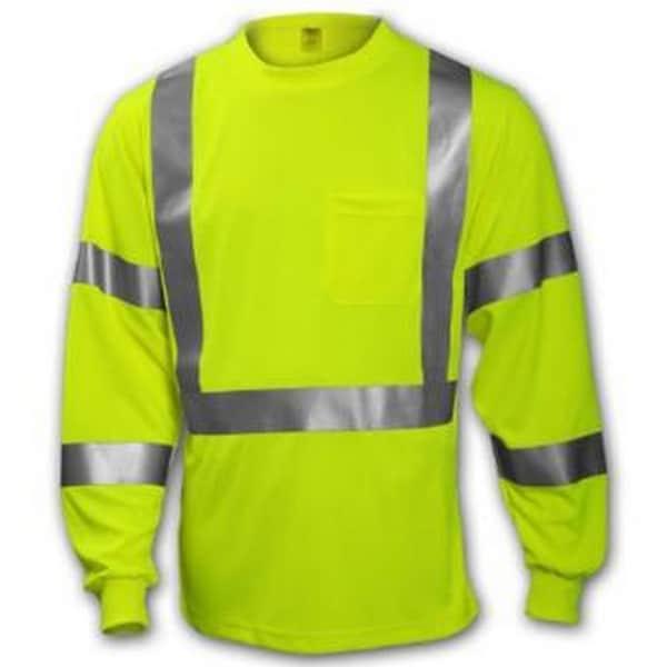 Class 3 High-visibility Fluorescent Yellow-Green T-shirt