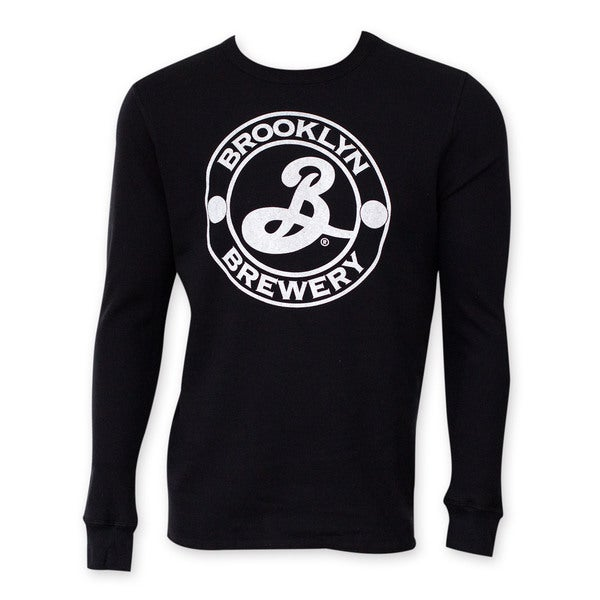 Brooklyn Brewery Men's Black Long-sleeve Thermal T-shirt