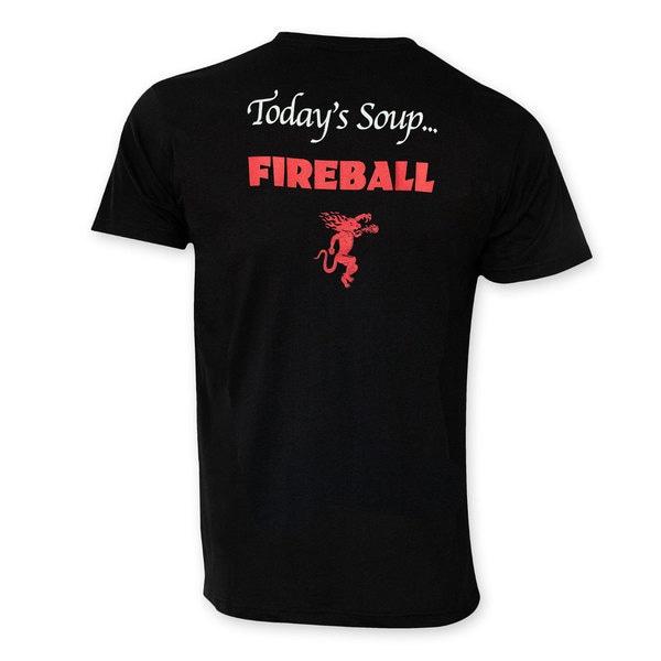 Fireball Men's 'Today's Soup' Black Cotton Tee Shirt