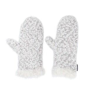 Muk Luks Women's Acrylic/ Polyester/ Nylon Textured Mittens