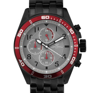 Aubert Freres Corrigan Men's Chronograph Sport Watch With Multi-Link Steel Bracelet