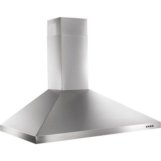 Whirlpool Silver Stainless Steel 36-inch Canopy-style Wall-mount Range Hood