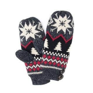 Muk Luks Women's Acrylic/ Polyester Furpa Snowflake Nordic Mittens