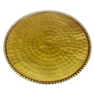 Hammered Gold Plate Candle Holder