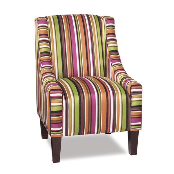 Elora Multi-Color Striped Accent Chair