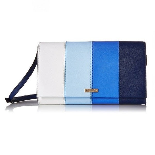 Kate Spade Cedar Street Striped Cali Ocean Blue Multi Wallet