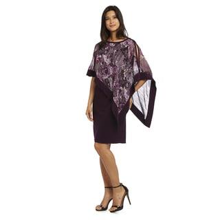 R&M Richards Multicolored Pullover Poncho Dress