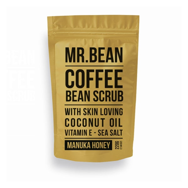Mr. Bean Scrub Organic Manuk Honey Coffee Scrub With Coconut Oil, Vitamin E, and Sea Salt