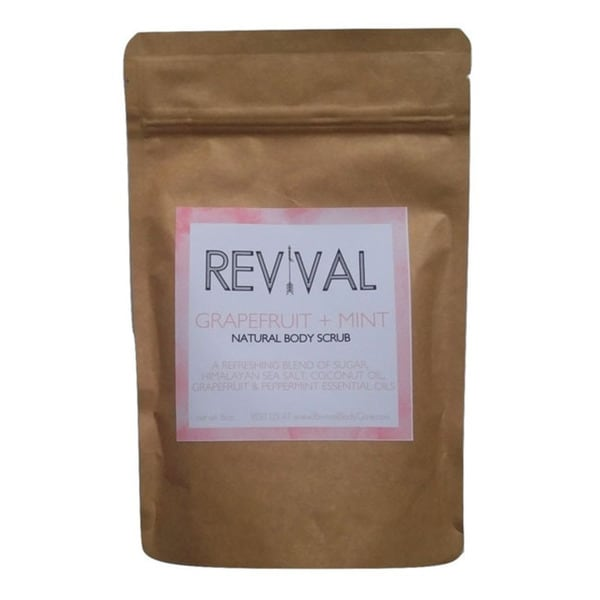 Revival Body Care Organic Whipped Skin-Replenishing Grapefruit Mint Body Scrub