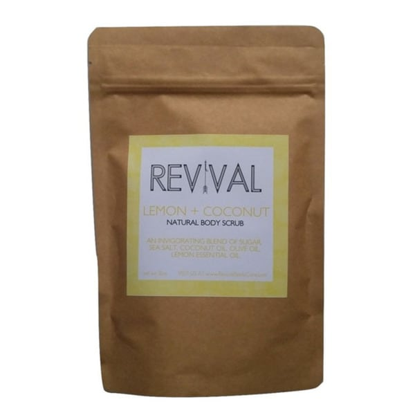 Revival Body Care Organic Lemon Coconut Body Scrub
