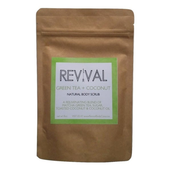 Revival Body Care Organic Cane Sugar Green Tea & Coconut Body Scrub
