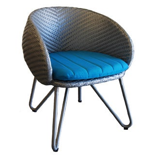 Grey/Turquoise Circle Dining Chair