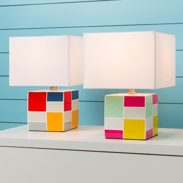 Goussainville Table Lamp with Glazed Ceramic Base 19590678