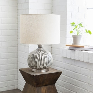 Kaci Table Lamp with Glazed Ceramic Base