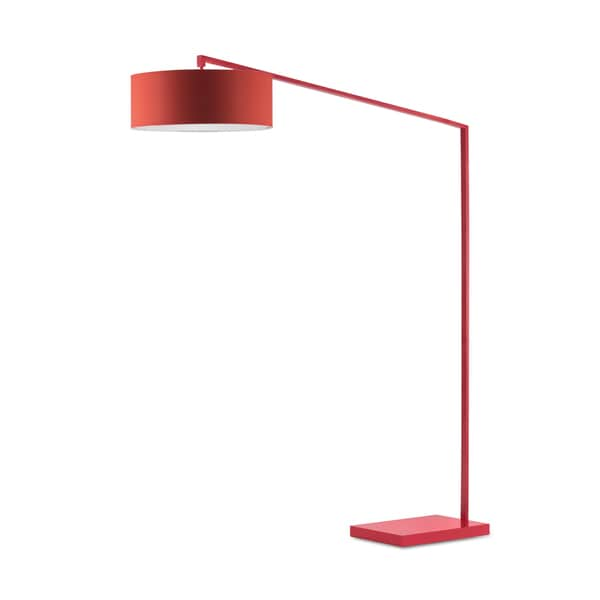 Red Steel Stretch Arc Lamp