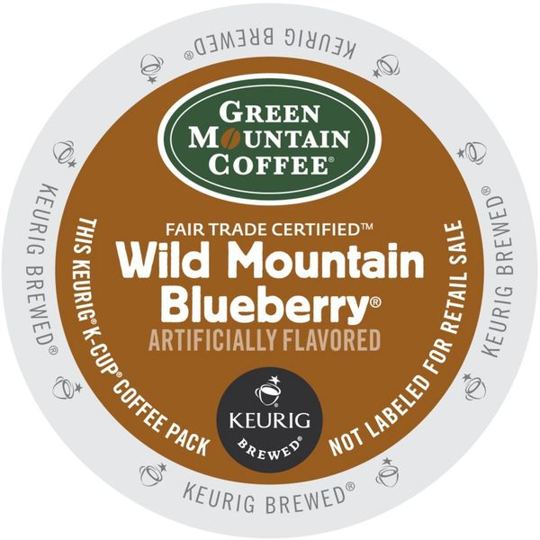 Green Mountain Wild Mountain Blueberry Coffee Single-serve K-cup Packs for Keurig Brewers 19590817