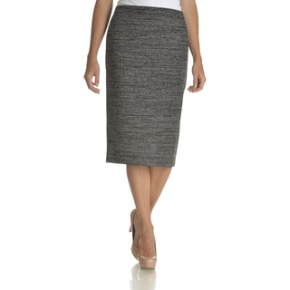Chelsea and Theodore Women's Marled Mid Length Skirt