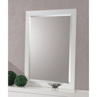 Jessica Collection White Wood Wall Mirror