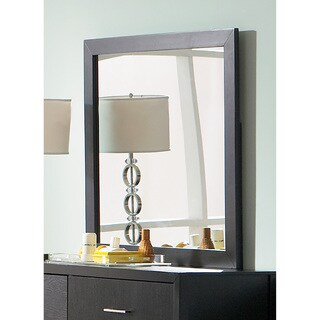 Grove Collection Black Wood Mirror