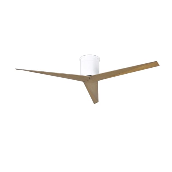 Matthews Fan Company Eliza-H White/Grey Steel 3-blade Ceiling Fan