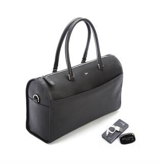 Royce Leather Barrel Bag Travel Set