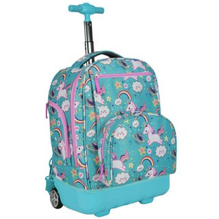 Pacific Gear Treasureland Unicorn Aqua Hybrid Lightweight Rolling Backpack