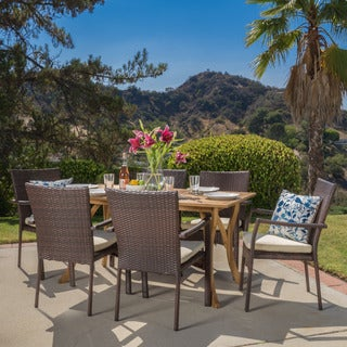 Christopher Knight Home Corleone Outdoor 7-piece Dining Set with Cushions