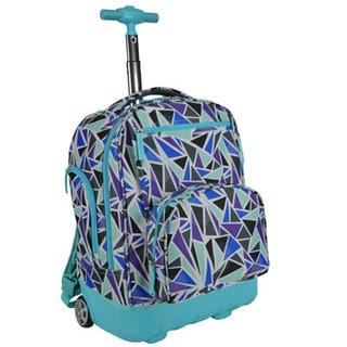 Pacific Gear Treasureland Diamond Hybrid Lightweight Rolling Backpack