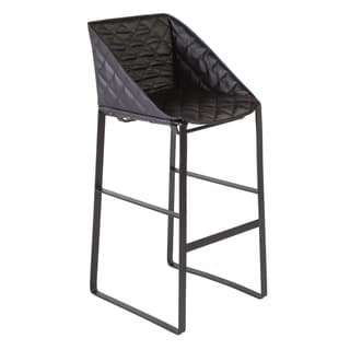Hans Andersen Home Fairman Black Leatherette Barstool