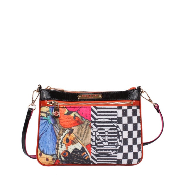 Nicole Lee Butterfly Print Mini Crossbody Handbag