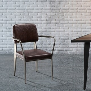 Hans Andersen Home Klassen Brown Vinyl Arm Chair