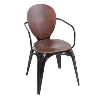Hans Andersen Home Fiskar Black Steel Walnut Arm Chair