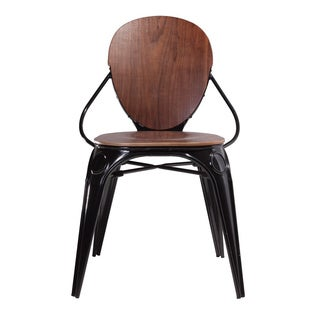 Hans Andersen Home Fiskar Steel Walnut Veneer Arm Chair