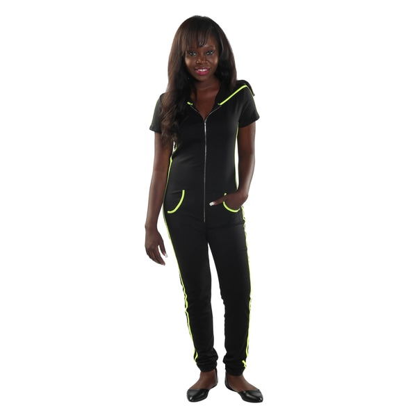 Hadari Women Short Sleeve Jumpsuit