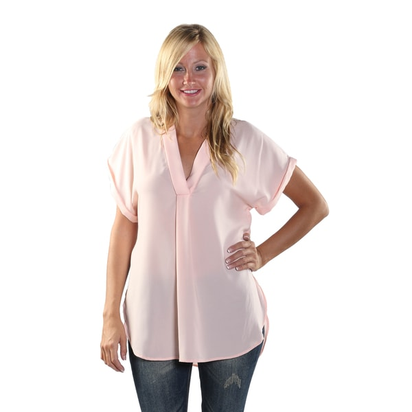 Hadari Women Short Sleeve V-Neck Shirt