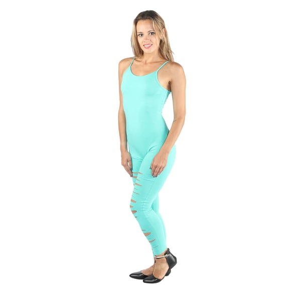 Hadari Women Round Neck Spaghetti Strap Jumpsuit