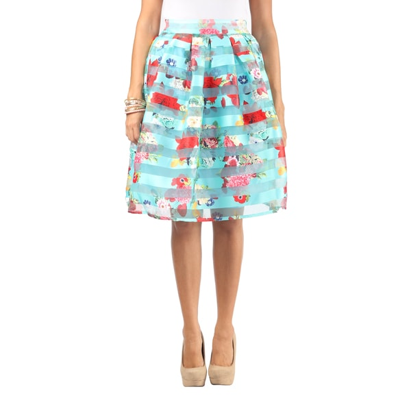 Hadari Women Knee Length Floral Skirt