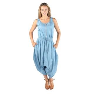 Hadari Women Sleeveless Round Neck Jumpsuit