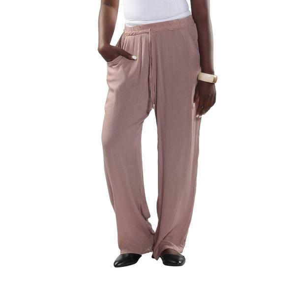 Hadari Elastic Waist Drawstring Pants