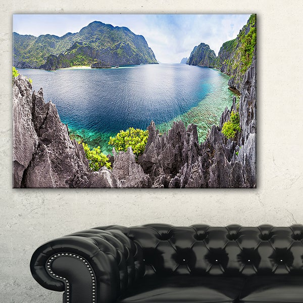 The Lagoon Panorama - Landscape Art Print Canvas