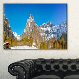 Sixt Fer a Cheval Panoramic View - Landscape Art Print Canvas