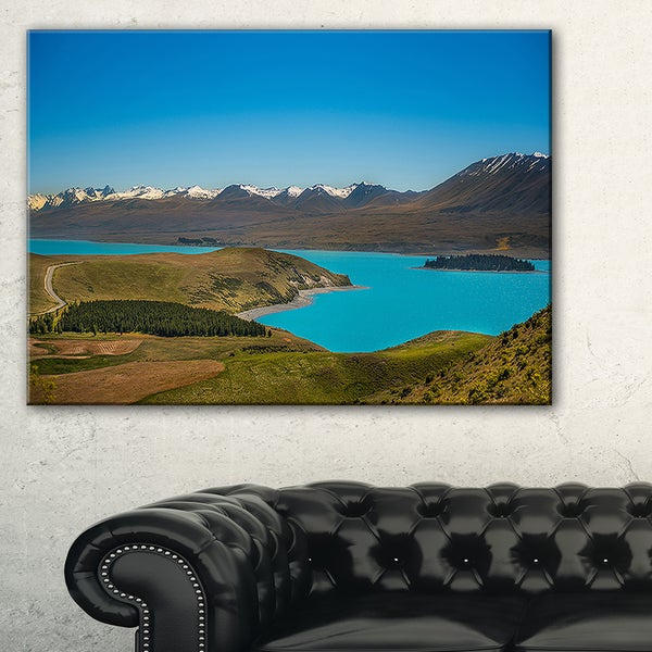 Fantastic Calm Landscape of New Zealand - Landscape Art Print Canvas
