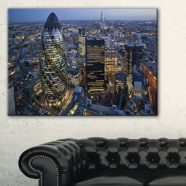 London Skyline at Sunset - Cityscape Canvas print