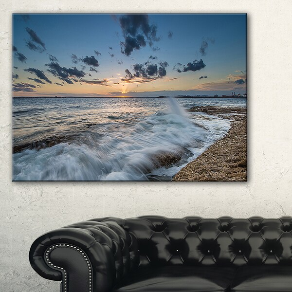 Sydney Sunset at La Per House - Seashore Canvas Wall Artwork