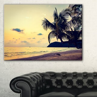 Silhouette Coconut Tree - Seashore Canvas Wall Artwork