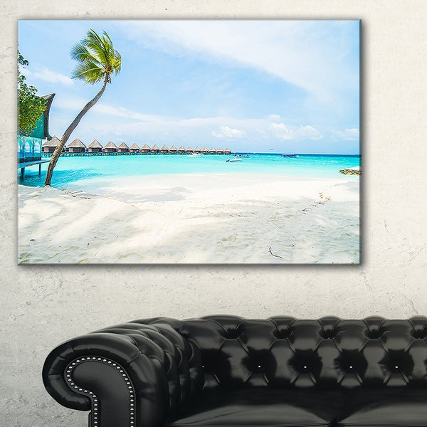 Tropical Maldives Island - Seashore Canvas Wall Artwork