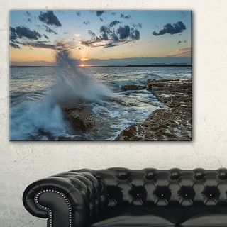 Sunset at Sydney Seashore - Seashore Canvas Wall Artwork