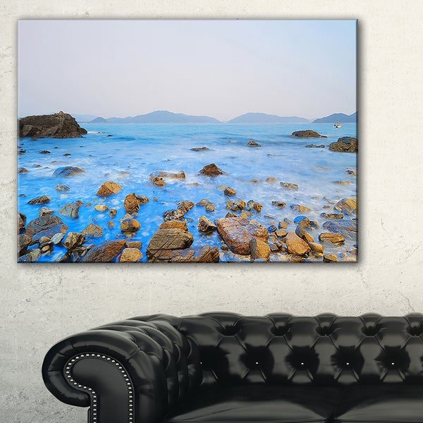 Stony Port Shelter Beach Hong Kong - Large Seashore Canvas Print